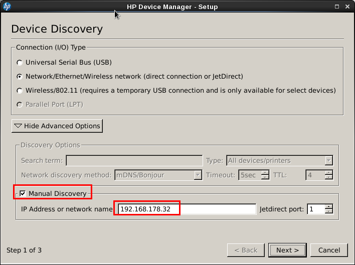 HP Device Manager - Setup