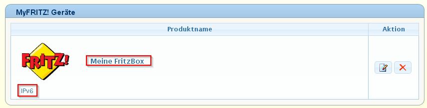 myFritz IPv6