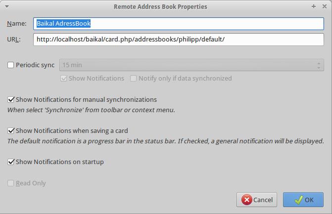 Remote Address book