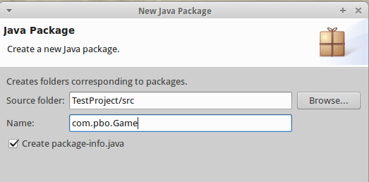 Create package-info.java