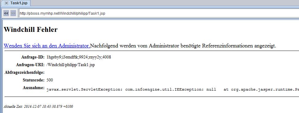 Error JSP Task